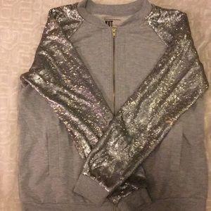 Kut From THe Kloth Grey zip-up jacket